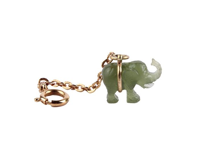 "Авторский брелок ""Слон"". Металл, пластик. Джоан Риверс. Начало XXI века Joan Rivers"