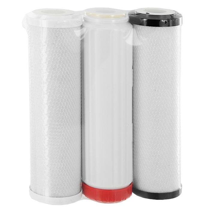 Сменные умягчающие картриджи Аквафор В510-03-04-07, 3 шт34186Комплект сменных модулей Аквафор В510-03-04-07 предназначен для очистки и умягчения водопроводной воды в водоочистителе Аквафор Трио умягчающий или в других бытовых водоочистителях аналогичной конструкции. В комплект входят модули: В510-03 (цвет фланца - черный), В510-04 (цвет фланца - красный) и В510-07 (цвет фланца - белый). Аквафор В510-03 - универсальный модуль для глубокой очистки воды. Модуль изготовлен по технологии карбонблок из высокоэффективных гранулированных и волокнистых сорбционных материалов. Аквафор В510-04, содержащий большее количество ионообменной смолы используется как универсальный модуль для снижения жесткости воды. Аквафор В510-07 - универсальный модуль для тонкой финишной очистки воды. Модуль изготовлен по технологии карбон-блок из высокоэффективных гранулированных и волокнистых сорбционных материалов. Компания Аквафор создавалась как высокотехнологическая производственная фирма, охватывающая все стадии...