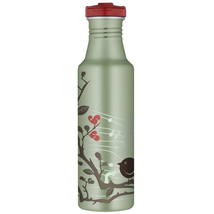 Фляжка Roho для напитков, цвет: зеленый, 700 мл101105Практичная и удобная фляжка Roho прекрасно подойдет для транспортировки различных напитков. Она будет незаменим во время путешествий, поездок на пикник или на дачу. Особенности фляжки Roho: изготовлена из высококачественной нержавеющей стали, с одной стенкой пластиковые детали не содержат Бисфенол А завинчивающаяся крышка с защитой от протекания позволяет открывать фляжку одной рукой, нажав кнопку специальное пластиковое кольцо, расположенное на крышке, делает удобной переноску фляжки широкое горлышко подходит для кусочков льда, а также делает более легкой чистку изделия благодаря эргономичному дизайну корпуса фляжки, ее удобно держать в руке фляжка достаточно высокая, что не дает руке замерзнуть стильное оформление корпуса можно безопасно мыть в посудомоечной машине. Характеристики: Материал: нержавеющая сталь, пластик, силикон. Объем фляжки: 700 мл. Высота фляжки (с учетом крышки): 25...
