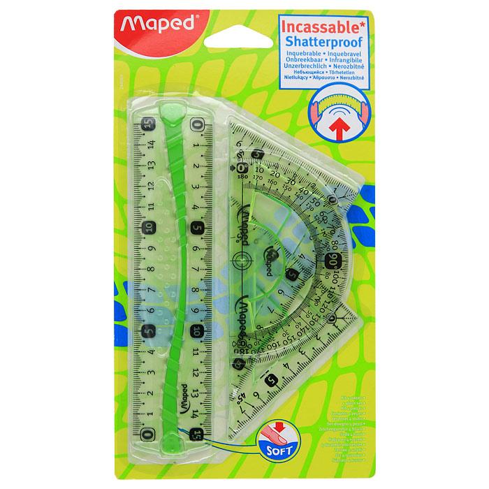 "Геометрический набор ""Maped"", цвет: зеленый, 4 предмета 244069 (СВ24406914)"