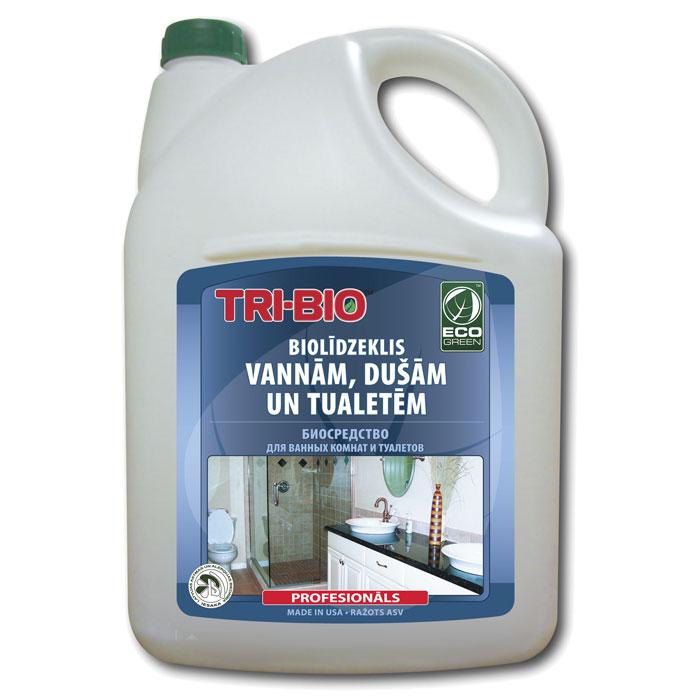 Биосредство для ванных комнат и туалетов Tri-Bio, 4,4 л787502Биосредство Tri-Bio предназначено для чистки раковин, ванн, душевых кабин, плитки, унитазов и др. Эффективно чистит керамику, фарфор, стеклопластик, а также нержавеющую сталь, не повреждая поверхность. Ликвидирует неприятные запахи, устраняя их причину. Легко проникает в швы, позволяет обеспечить более длительный контроль запаха и более глубокую чистку. Удаляет известковый налет!Особенности биосредства Tri-Bio для здоровья:Без фосфатов, без растворителей, без хлора отбеливающих веществ, без абразивных веществ, без поверхностно-активных веществ (ПАВ), без отдушек, без красителей, без токсичных веществ, нейтральный pH, гипоаллергенно. Безопасная альтернатива химическим аналогам. Присвоен сертификат ECO GREEN. Рекомендуется для людей склонных к аллергическим реакциям и страдающих астмой.Особенности биосредства Tri-Bio для окружающей среды:Низкий уровень ЛОС, легко биоразлагаемо, минимальное влияние на водные организмы, рециклируемые упаковочные материалы, не испытывалось на животных. Особо рекомендуется использовать в домах с автономной канализацией.Способ применения:Хорошо взболтайте средство. Распылите непосредственно на поверхности или на влажную губку, оставьте на несколько минут, затем потрите щеткой или губкой, смойте водой. Для более сильных загрязнений оставьте средство на поверхности на 2-5 минут. Характеристики:Объем:4,4 л. Производитель:США. Артикул:0083.