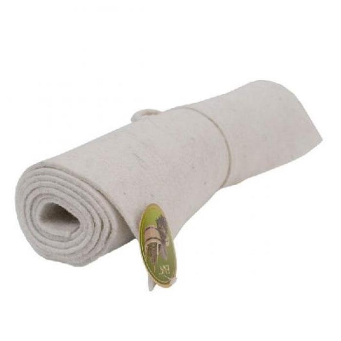 Коврик для бани и сауны, цвет: белый, 160 x 50 см531-401Коврик для бани и сауны, изготовленный из войлока белого цвета, обеспечивает защиту от высокой температуры, он очень легкий и его просто взять с собой. Коврик для бани - незаменимый аксессуар для любителей бани и сауны. Является средством личной гигиены, защищает открытые части тела парильщика от перегретых поверхностей полок, лавок в парной бани и сауны. Оригинальный коврик послужит замечательным подарком любителям попариться. Характеристики:Материал: войлок. Размер коврика: 160 см х 50 см. Производитель: Россия. Артикул: Б4201.