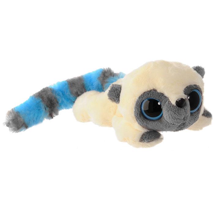 Мягкая игрушка Aurora AURORA Юху голубой лежачий 16 см 65-501