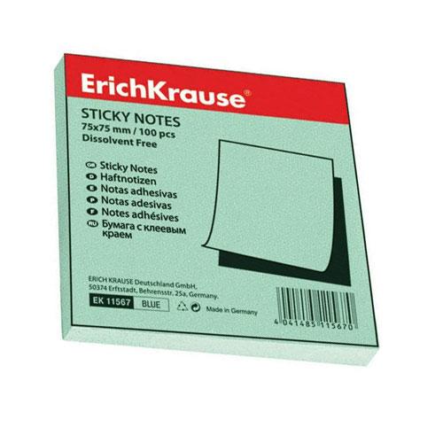 Бумага для заметок Erich Krause, с липким слоем, цвет: зеленый, 100 листов, 7,5 см х 7,5 см7710891Бумага для заметок Erich Krause- эффективный офисный инструмент, позволяющий рационально организовать работу, используя разнообразные цвета для обозначения дел разной важности. Листы выполнены из цветной чистоцеллюлозной бумаги самого высокого качества, их можно наклеивать на любую гладкую поверхность, без опасения оставить след от клея.А яркие листочки помимо важной информации передадут Вашу радость и отличное настроение! Характеристики: Цвет: зеленый. Размер листа:7,5 см х 7,5 см. Количество: 100 листов.
