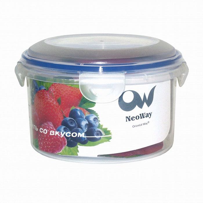 Контейнер для СВЧ NeoWay Enjoy круглый, 0,45 лYP1027BКруглый контейнер для СВЧ NeoWay Enjoy, выполненный из высококачественного пластика, это удобная и легкая тара для хранения и транспортировки бутербродов, порционных салатов, мяса или рыбы, горячих и холодных блюд, даже жидких продуктов. Контейнер 100% герметичен. Крышка оснащена четырьмя специальными защелками и силиконовым уплотнителем. Клипсы (защелки) позволяют произвести защелкивание более чем 400000 раз. Пустотелый силиконовый уплотнитель имеет большую гибкость и лучшее прилегание. Контейнеры могут быть вставлены один в другой, что позволяет сэкономить много пространства. Контейнер для СВЧ NeoWay Enjoy выдерживает температуру в диапазоне от -20°C до +120°C, его можно мыть в посудомоечной машине и нельзя нагревать пустым.