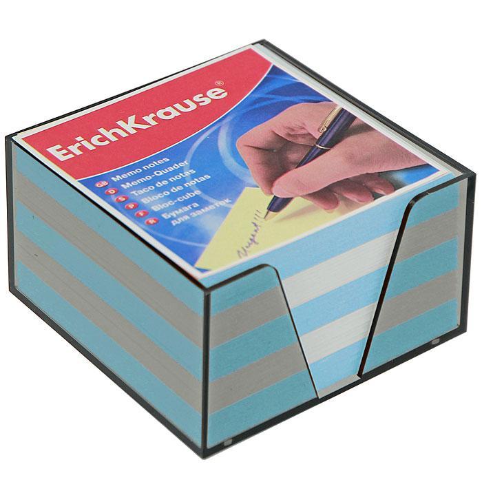 """Бумага для заметок """"Erich Krause"""", в боксе, цвет: голубой, белый, 9 см x 9 см x 5 см 2722"""