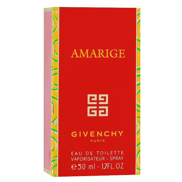 Givenchy Amarige. Туалетная вода, 50 мл1301210Аромат Givenchy Amarige теплый, нежный, женственный, интенсивный и стойкий. Это гимн любви и счастья, радости и благополучия. Теплые и нежные ноты нероли и розового дерева гармонично сочетаются с женственными ароматами цветов. Amarige - аромат, созданный для искренних, открытых и жизнерадостных женщин, фантазия и юмор которых ярко выражают их любовь к жизни.Классификация аромата: цветочный. Пирамида аромата:Верхние ноты: фиалка, слива, цветок апельсина и персик.Ноты сердца: жасмин, черная смородина, иланг-иланг и тубероза.Ноты шлейфа: ваниль, сандал и мускус. Ключевые слова:Женственный, яркий, элегантный! Характеристики:Объем: 50 мл. Производитель: Франция. Туалетная вода - один из самых популярных видов парфюмерной продукции. Туалетная вода содержит 4-10%парфюмерного экстракта. Главные достоинства данного типа продукции заключаются в доступной цене, разнообразии форматов (как правило, 30, 50, 75, 100 мл), удобстве использования (чаще всего - спрей). Идеальна для дневного использования. Товар сертифицирован.