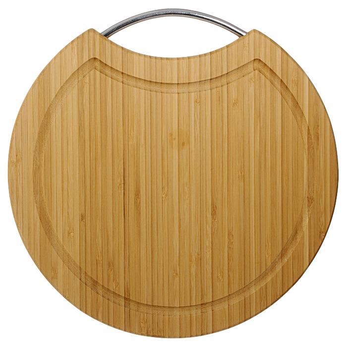 Доска разделочная Oriental way 30,5см BC603994672Круглая разделочная доска Oriental way с ручкой из нержавеющей стали изготовлена из высококачественной древесины бамбука. Доска прекрасно подходит для приготовления и сервировки пищи.Особенности разделочной доски Oriental way:сделана из природного материала,гармонирует с любым интерьером, высокое качество шлифовки поверхности, двухслойное покрытие пищевым лаком, безопасным для здоровья человека, степень влажность 8-10%, не трескается и не рассыхается, высокая плотность структуры древесины, устойчива к механическим воздействиям,долгий срок службы,не впитывает влагу и запахи, не предназначена для мытья в посудомоечной машине. Характеристики: Материал: бамбук, нержавеющая сталь. Диаметр доски:30,5 см. Толщина доски:1,6 см. Производитель: Китай. Артикул: BC6039. Торговая марка Oriental way известна на рынке с 1996 года. Эта марка объединяет товары для кухни, изготовленные из дерева и других материалов. Все товары марки Oriental way являются безопасными для здоровья, экологичными, прочными и долговечными в использовании.