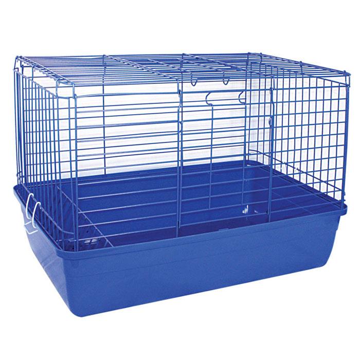 Клетка для кроликов Triol, цвет: синий, 59 см х 40 см х 36 смK-T1-1Клетка для кроликов Triol, выполненная из металла с эмалированным покрытием и пластика, предназначена для содержания вашего любимца. Клетка имеет прямоугольную форму, очень просторна, оснащена съемным поддоном. Она очень легко собирается и разбирается. Такая клетка станет для вашего питомца уютным домиком и надежным убежищем. Размер клетки: 59 см х 40 см х 36 см.