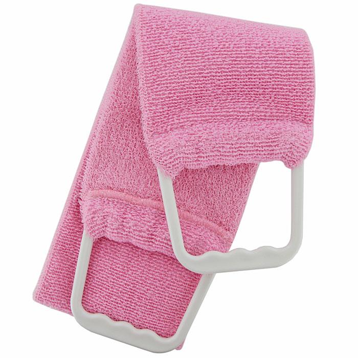 Riffi Мочалка-пояс, двухсторонняя, цвет: розовый. 727727Двухсторонняя мочалка-пояс Riffi, обладающая активным пилинговым действием, тонизирует, массирует и эффективно очищает вашу кожу. Мягкой стороной хорошо намыливать тело и наносить на него косметические средства после душа. Жесткую сторону пояса используют для тонизирующего массажа кожи. Для удобства применения мочалка снабжена двумя пластиковыми ручками. Благодаря отшелушивающему эффекту мочалки-пояса, кожа освобождается от отмерших клеток, становится гладкой, упругой и свежей. Интенсивный и пощипывающе свежий массаж тела с применением Riffi стимулирует кровообращение, активирует кровоснабжение, способствует обмену веществ, что в свою очередь позволяет себя чувствовать бодрым и отдохнувшим после принятия душа или ванны. Riffi регенерирует кожу, делает ее приятно нежной, мягкой и лучше готовой к принятию косметических средств. Приносит приятное расслабление всему организму. Борется со спазмами и болями в мышцах, предупреждает образование целлюлита и...
