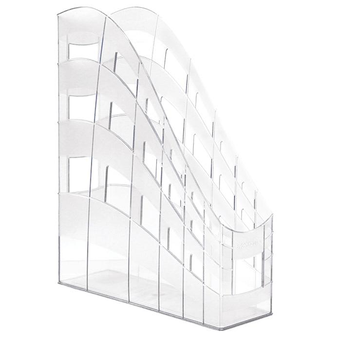 Подставка для бумаг Erich Krause S-Wing, вертикальная, цвет: прозрачныйB5417Односекционная вертикальная подставка для бумаг Erich Krause S-Wing предназначена для хранения документов, рабочих бумаг, журналов и каталогов различных форматов. Подставка выполнена из высококачественного прозрачного пластика. Низкий передний порог облегчает изъятие документов из накопителя.Вертикальная подставка S-Wing - это незаменимый офисный атрибут, благодаря которому ваши документы будут всегда содержаться в порядке.Характеристики:Размер подставки: 25 см x 7,5 см x 31 см. Цвет подставки: прозрачный.