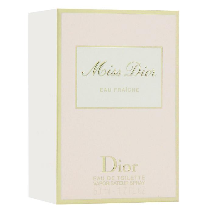 Christian Dior Miss Dior Eau Fraiche. Туалетная вода, 50 мл952230Christian Dior Miss Dior Eau Fraiche - женственный и чувственный, свежий и зеленый, шипрово-цветочный аромат. Глубокий и чувственный и в то же время кокетливый характер с бодрящим звуком солнечной весны. Этот аромат дополнил многообразие исключительных образов парижанки Miss Dior. В нем смешались легкость и элегантность. Классификация аромата : шипровый, цветочный. Верхние ноты: цитрусовые, гальбаниум. Ноты сердца: жасмин. Ноты шлейфа: бергамот, гардения, пачули. Ключевые слова Свежий, чувственный, легкий, элегантный! Характеристики: Объем: 50 мл. Производитель: Франция. Туалетная вода - один из самых популярных видов парфюмерной продукции. Туалетная вода содержит 4-10% парфюмерного экстракта. Главные достоинства данного типа продукции заключаются в доступной цене, разнообразии форматов (как правило, 30, 50, 75, 100 мл), удобстве использования...
