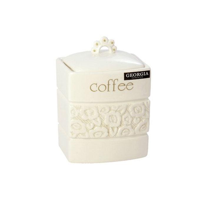 Банка для кофе Georgia Coffee 11,5 х 10,5 х 12,5 см 7218560721856Малая банка Georgia, выполненная из керамики и оформленная оригинальным выпуклым рисунком и надписью Coffe, станет незаменимым помощником на кухне. В ней будет удобно хранить сахар. Емкость легко закрывается крышкой, которая снабжена резиновым кольцом-уплотнителем для лучшей фиксации. Оригинальный дизайн позволит сделать такую емкость отличным подарком на любой праздник. Характеристики: Материал: керамика, резина. Размер банки (без учета крышки): 11,5 см х 10,5 см х 12,5 см. Размер упаковки: 12,5 см х 12 см х 16 см. Производитель: Великобритания. Артикул: 0721856.