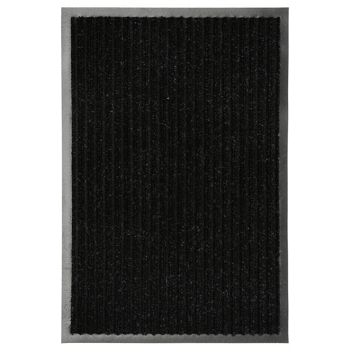 Коврик придверный Vortex, влаговпитывающий, цвет: черный, 50 см х 80 см22086Придверный влаговпитывающий коврик Vortex черного цвета выполнен из ПВХ и полиэстера. Он прост в обслуживании, прочный и устойчивый к различным погодным условиям. Лицевая сторона коврика ребристая. Прорезиненная основа коврика предотвращает его скольжение по гладкой поверхности и обеспечивает надежную фиксацию. Такой коврик надежно защитит помещение от уличной пыли и грязи. Характеристики: Материал: ПВХ, полиэстер. Размер коврика: 50 см х 80 см. Цвет: черный. Артикул: 22086.