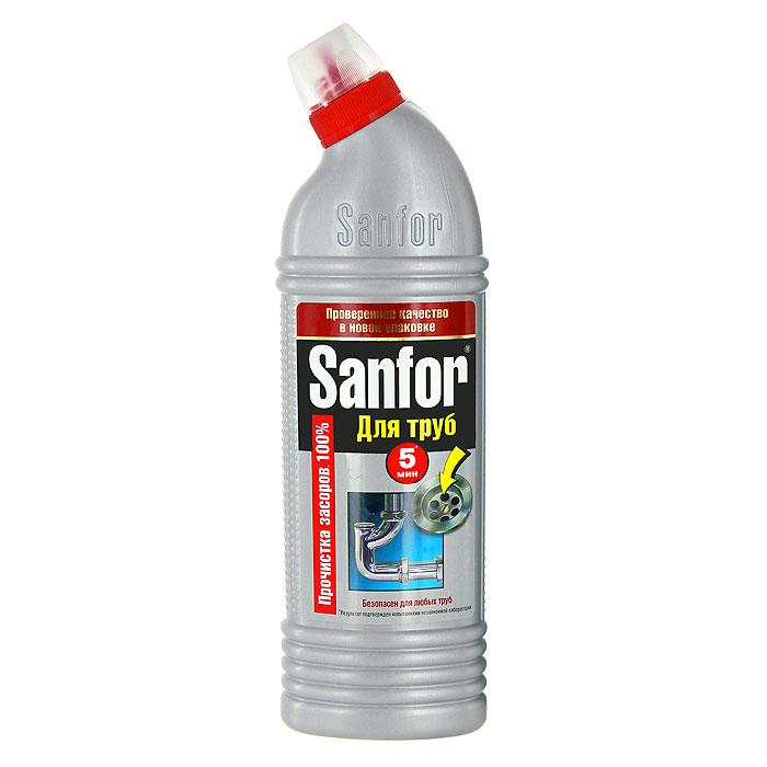 Гель для удаления засоров Sanfor, 750 г68/5/3Средство для очистки канализационных труб Sanfor быстро устранит даже очень сильные засоры в канализационных стоках. Результат достигается уже за 5 минут. Благодаря густой структуре проникает глубоко в трубу непосредственно к засору, даже при наличии воды. Эффективно растворяет в стоках волосы, остатки пищи, жир и другие загрязнения. Нейтрализует неприятные запахи. Средство безопасно для всех видов труб, в том числе и пластиковых. Убивает микробы за 60 минут. Характеристики:Масса: 750 г. Артикул:1559.