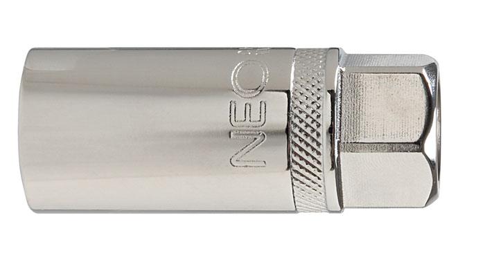 Головка торцевая Neo, свечная с магнитом, 1/2, 16 мм08-090Головка торцевая Neo применяется для монтажа/демлнтажа резьбовых соединений. Станет отличным помощником монтажнику или владельцу авто. Этот инструмент обеспечит надежную фиксацию на гранях крепежа. Характеристики: Материал: хром-ванадий. Диаметр головки: 16 мм. Размер переходника: 1/2. Размер упаковки: 13 см х 4,5 см х 2 см.