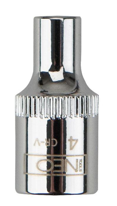 Головка торцевая Neo 1/4, 12 мм08-230Головка торцевая Neo применяется для монтажа/демлнтажа резьбовых соединений. Станет отличным помощником монтажнику или владельцу авто. Этот инструмент обеспечит надежную фиксацию на гранях крепежа. Характеристики: Материал: хром-ванадий. Диаметр головки: 12 мм. Размер переходника: 1/4. Размер упаковки: 8,5 см х 4,5 см х 1 см.