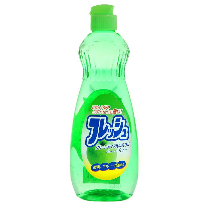 Средство для мытья посуды Fruit Acidic Fresh, с ароматом зеленого яблока, 600 мл301956Средство для мытья посуды Fruit Acidic Freshсодержит апельсиновое масло, очень мягко воздействует на кожу рук, не раздражая ее. Превосходно удаляет жирные загрязнения. Справляется с жиром даже в холодной воде. Подходит для мытья овощей и фруктов. Характеристики: Объем: 600 мл. Производитель: Япония. Товар сертифицирован.