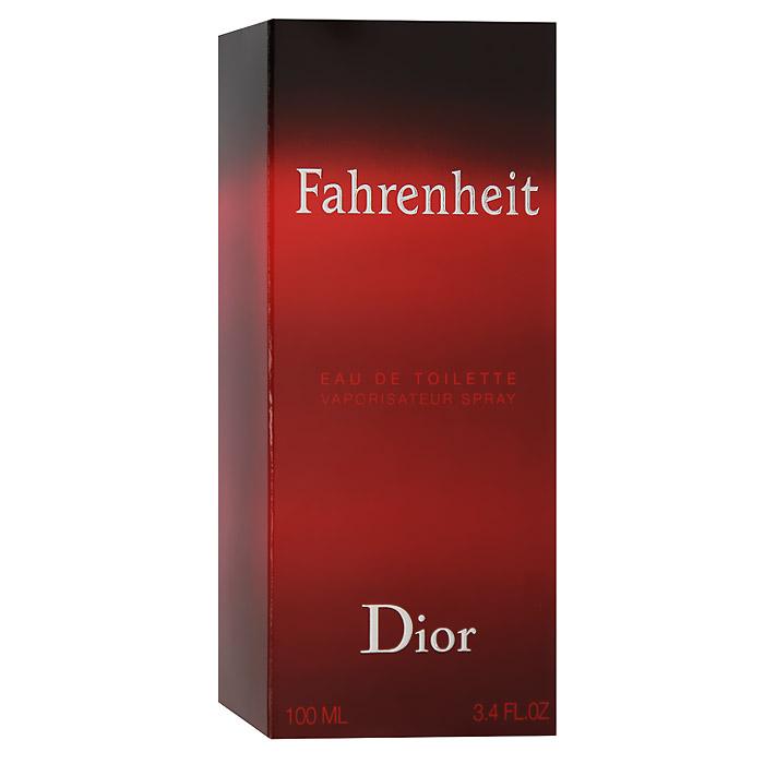 Christian Dior Fahrenheit Туалетная вода, мужская, 100 млKF1118Мужчина Fahrenheit - это сложная эмоциональная натура. В нем мужественность открывается силой и уверенностью, сомнениями и переживаниями. Он чувственный и раскрепощенный. Fahrenheit - это аромат нового состояния души. Для композиции характерна гармония контрастов: свежие ноты сочетаются с теплыми и насыщенными, чувственные с деликатными, классические с ультрасовременными. Это аромат динамичной жизни и дальних странствий. Аромат романтиков и оптимистов. Букет аромата узнаваем и неповторим. У него много поклонников и их ряды год от года только увеличиваются.Классификация аромата: древесный.Пирамида аромата:Верхние ноты: бергамот, мандарин.Ноты сердца:листья фиалки, мускатный орех, гвоздика.Ноты шлейфа:кожа, пачули, ветивер.Ключевые слова:Волнующий, мужественный, теплый! Характеристики:Объем: 100 мл. Производитель: Франция. Туалетная вода - один из самых популярных видов парфюмерной продукции. Туалетная вода содержит 4-10%парфюмерного экстракта. Главные достоинства данного типа продукции заключаются в доступной цене, разнообразии форматов (как правило, 30, 50, 75, 100 мл), удобстве использования (чаще всего - спрей). Идеальна для дневного использования. Товар сертифицирован.