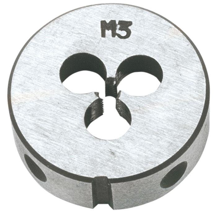 Плашка вольфрамовая Topex, М3, 25 х 9 мм14A303Плашки вольфрамовые Торех используются для нарезания метрической резьбы. Характеристики: Материал: металл. Шаг резьбы: М3. Размеры плашки: 2,5 см х 0,9 см. Размеры упаковки: 13 см х 7 см х 2,5 см.
