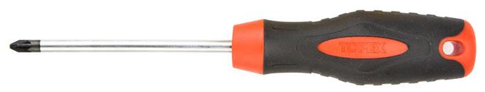 Отвертка крестовая Topex, PZ2 x 100 мм39D831Отвертка крестовая Торех предназначена для монтажа/демонтажа резьбовых соединений. Изделие изготовлено из инструментальной стали и оснащены удобной эргономичной рукояткой. Имеет магнитный наконечник. Характеристики: Материал: пластик, резина, хром-молибден. Длина отвертки: 10 см. Длина ручки: 11 см. Размеры упаковки: 21 см х 4 см х 3 см.