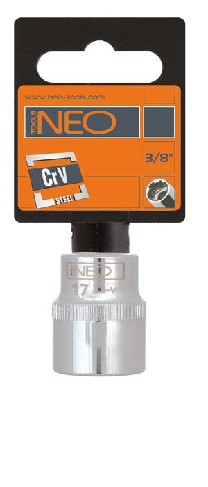 Головка торцевая Neo 3/8, 17 мм08-117Головка торцевая Neo применяется для монтажа/демлнтажа резьбовых соединений. Станет отличным помощником монтажнику или владельцу авто. Этот инструмент обеспечит надежную фиксацию на гранях крепежа. Характеристики: Материал: хром-ванадий. Диаметр головки: 17 мм. Размер переходника: 3/8. Размер упаковки: 9 см х 4,5 см х 2,5 см.