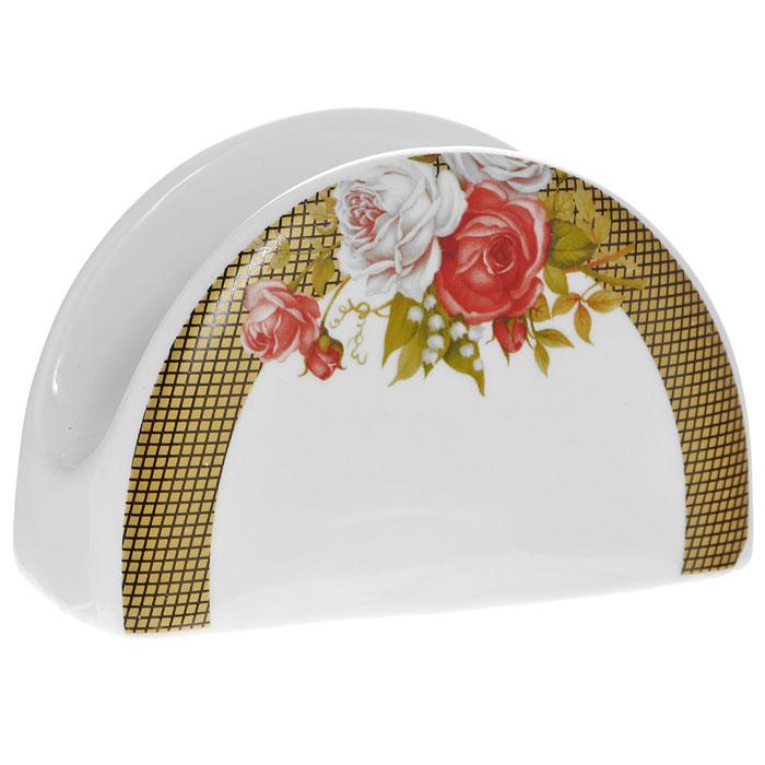Салфетница Галерея роз, цвет: белый222161CСалфетница Галерея роз, выполненная из высококачественного фарфора, оформлена изображением букета роз и желтым орнаментом в клеточку. Такая салфетница прекрасно подойдет для вашей кухни и великолепно украсит стол. Оригинальная салфетница Галерея роз станет отличным подарком для друзей и близких. Характеристики: Материал: фарфор. Цвет: белый. Размер: 10,5 см х 6,5 см х 4,5 см. Размер упаковки: 11 см х 5 см х 7 см. Артикул: 222161C.