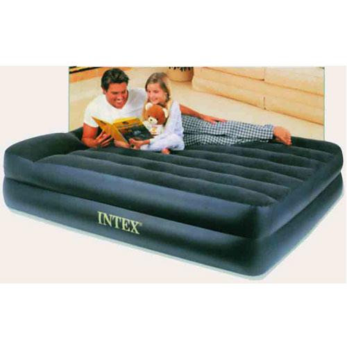 Кровать надувная Intex Comfort, с насосом, 203 см х 157 см66702Высокая двуспальная надувная кровать со встроенным подголовником Intex Comfort обладает наивысшей степенью комфорта для сна. Каждая из двух камер этой кровати имеет свою функцию: нижняя камера играет роль основы - как обычная кровать, а верхняя несет в себе функцию матраса. Кровать изготовлена из высококачественного винила. Флокированный верхний слой (напоминающий велюр) не дает простыне соскальзывать во время сна. Эксклюзивная внутренняя конструкция перегородок, обеспечивает повышенный комфорт и удобство использования. Встроенный электрический насос, работающий от сети 220В, позволяет надуть кровать всего за 3 минуты. Эта необычайно удобная надувная кровать поможет вам полноценно отдохнуть. В комплект с кроватью входит сумка для хранения и переноски. Гарантия производителя: 30 дней.