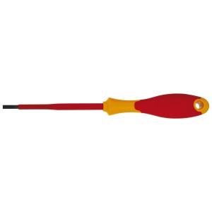 Отвертка плоская Topex, 6,5 мм х 150 мм39D474Отвертка плоская Торех предназначена для монтажа/демонтажа резьбовых соединений. Характеристики: Материал: пластик, резина, хром-ванадий. Длина отвертки: 15 см. Длина ручки: 11 см. Ширина жала: 6,5 мм. Размеры упаковки: 26 см х 4 см х 3 см