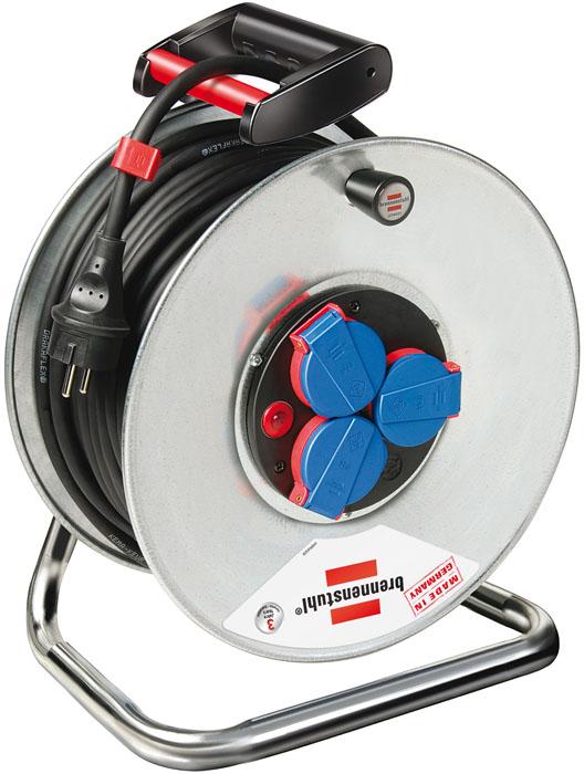 Удлинитель на катушке Brennenstuhl Garant S, 3 гнезда, 40 м32012 0Удлинитель на катушке Garant S изготовлен из устойчивой к коррозии оцинкованной стали на прочной раме, идеальный помощник как на даче так и в квартире. Благодаря самозакрывающимся крышкам,позволяет использовать удлинитель в условиях, когда он подвергается воздействию брызг воды. Имеется удобная ручка для переноса. Характеристики: Материал: пластик, сталь. Количество розеток: 3. Длина шнура: 40 м. Размеры удлинителя: 29 см х 19 см х 36 см. Размеры упаковки:29 см х 20 см х 37 см.