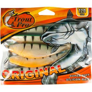 Риппер Trout Pro Original, длина 12 см, 5 шт. 3532403/1/12Приманка предназначена для джиговой ловли хищной рыбы: окуня, судака, щуки. Специальная пластина придает приманке колебательные движения, усиливая ее сходство с живой рыбкой. Характеристики:Длина: 12 см. Цвет тела:142 (зеленый, перламутровый с полосками). Материал: эластичный полимер. Размер упаковки: 16,5 см х 14 см х 1,2 см. Производитель: Китай. Артикул: 35324.