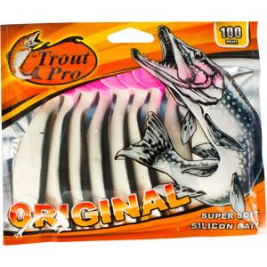 Риппер Trout Pro Original, длина 10 см, 10 шт. 3530235302Приманка предназначена для джиговой ловли хищной рыбы: окуня, судака, щуки. Специальная пластина придает приманке колебательные движения, усиливая ее сходство с живой рыбкой. Характеристики: Длина: 10 см. Цвет тела: 151. Материал: эластичный полимер. Размер упаковки: 16,8 см х 14,2 см х 0,9 см. Производитель: Китай. Артикул: 35302.