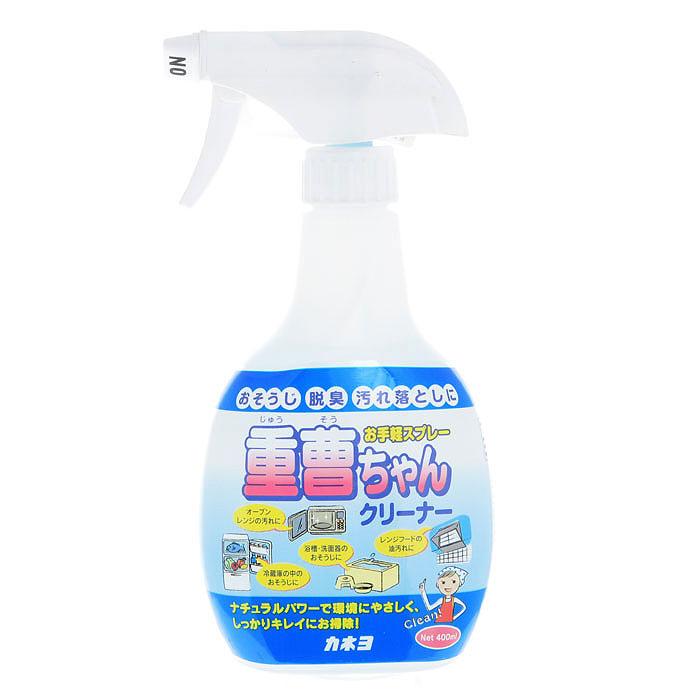 Спрей чистящий Kaneyo с чайной содой, 400 мл305087Экологически чистое натуральное средство Kaneyo не причиняет вреда окружающей среде. Спрей предназначен для уборки на кухне, в ванной или туалетной комнатах. Отлично справляется с загрязнениями на пластиковых, эмалированных, керамических и металлических поверхностях. Дезинфицирует и уничтожает стойкие неприятные запахи! Помогает также устранить неприятный запах в холодильнике. Характеристики: Объем: 400 мл. Артикул: 305087. Товар сертифицирован.
