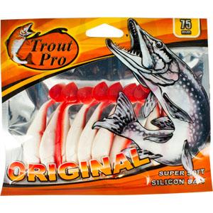 Риппер Trout Pro Original, длина 7,5 см, 10 шт. 3528735287Приманка предназначена для джиговой ловли хищной рыбы: окуня, судака, щуки. Специальная пластина придает приманке колебательные движения, усиливая ее сходство с живой рыбкой. Характеристики: Длина: 7,5 см. Цвет тела: 149 (белый с красной спиной). Материал: эластичный полимер. Размер упаковки: 16,8 см х 14 см х 0,7 см. Производитель: Китай. Артикул: 35287.