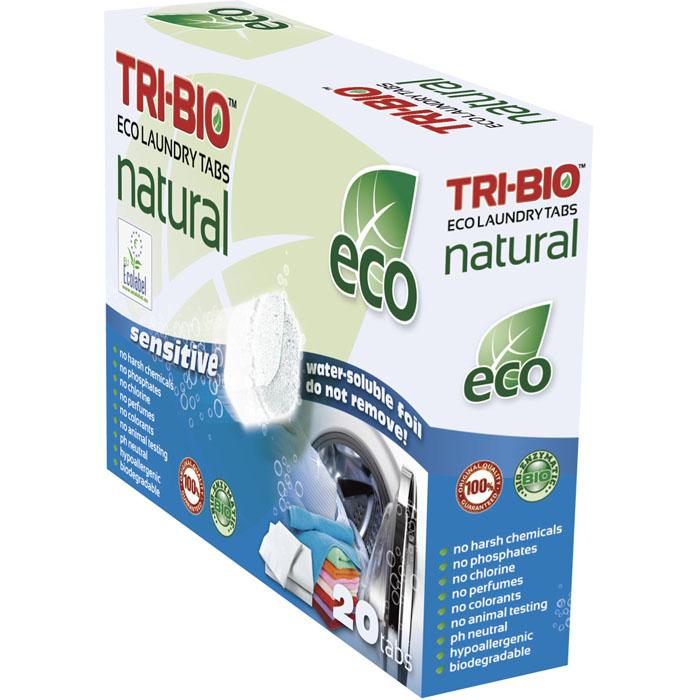 Натуральные эко-таблетки Tri-Bio для стирки, 500 г, 20 шт0168Натуральные эко-таблетки Tri-Bio - экологическая формула, основана на био-энзимах и натуральных растительных и минеральных компонентах. Не содержат фосфаты и формальдегиды, но также эффективны как широко известные жесткие химические средства. Подходят для стирки белого и цветного белья. Жестки для грязи - нежны для ткани. Не содержат ароматов и красителей, рекомендуются для людей, склонных к аллергическим реакциям и страдающих астмой. Идеально подходят для детского белья и людей с чувствительной кожей. Легкие в использовании и экономичные, упакованы в водорастворимую пленку. Для здоровья: Без фосфатов, растворителей, хлора отбеливающих веществ, абразивных веществ, отдушек, красителей, токсичных веществ, нейтральный pH, гипоаллергенно. Присвоены сертификаты EU Ecolabel и ECO GREEN. Для окружающей среды: Низкий уровень ЛОС, биоразлагаем, минимальное влияние на водные организмы. Особо рекомендуется использовать в домах с автономной канализацией Характеристики:...