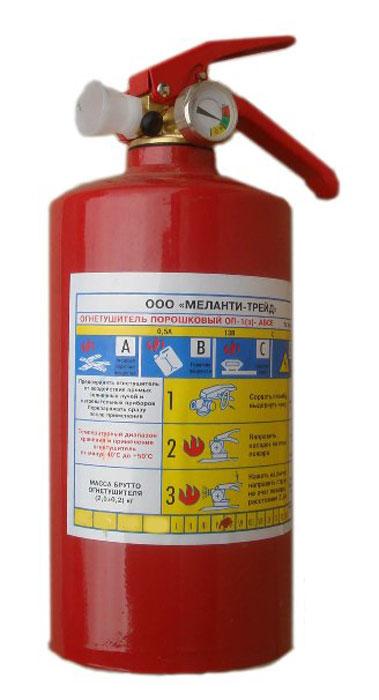Огнетушитель порошковый ОП-1 с манометром, 1 л