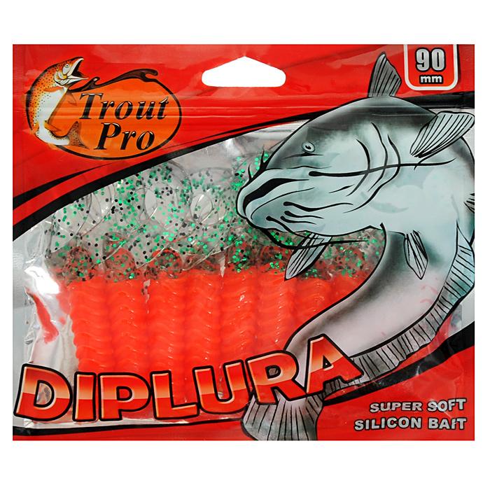 Твистер Trout Pro Diplura, длина 9 см, 10 шт. 3549535495Твистер Trout Pro Diplura предназначен для джиговой ловли хищной рыбы: окуня, щуки, судака. Двухвостый твистер создает визуальный объем, увеличивая эффект вибрации с помощью двух эластичных хвостов. Твистер Trout Pro Diplura - наиболее эффективная приманка для ловли малоактивной рыбы. Характеристики: Длина: 9 см. Цвет тела: 112 (красный, прозрачный хвост с черными и зелеными вкраплениями). Материал: эластичный полимер. Производитель: Китай. Артикул: 35495.