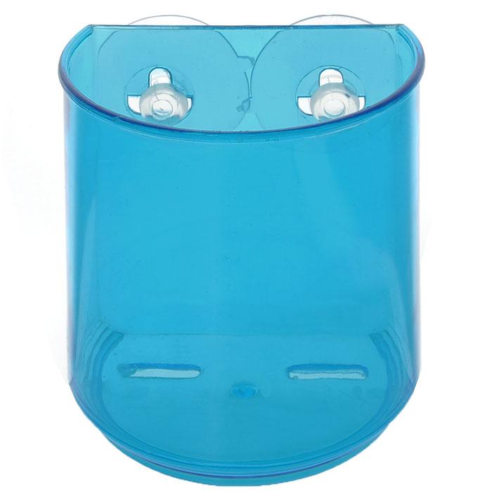 Держатель для зубных щеток LaSella, цвет: синий, 10 см х 7 см х 10 см68/5/3Держатель LaSella изготовлен из пластика и предназначен для хранения зубных щеток. Он крепится к стене с помощью двух вакуумных присосок (входят в комплект), мгновенно одним нажатием. В случае необходимости держатель можно быстро перевесить. Никаких дырок и следов на поверхности не остается. Легко устанавливается на плитку, стекло, металл и прочие воздухонепроницаемые поверхности. Размер держателя: 10 см х 7 см х 10 см. Диаметр присоски: 5 см.
