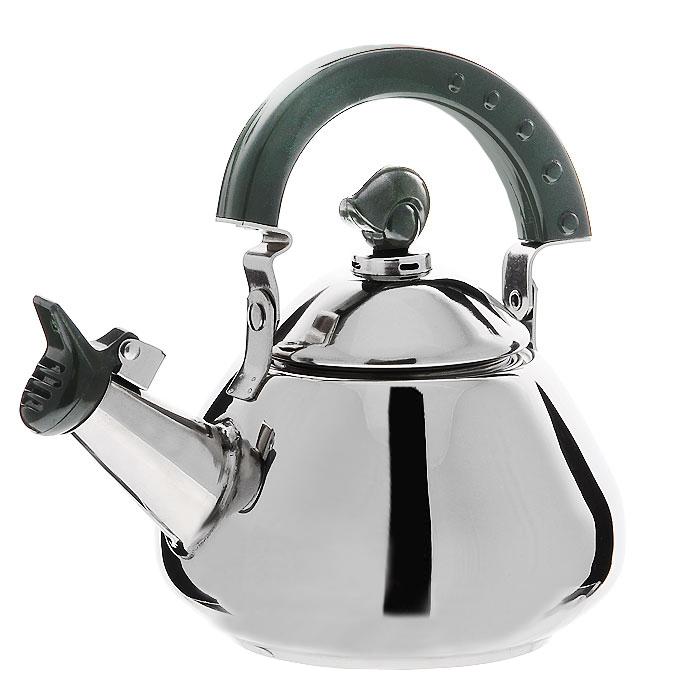 Чайник Mayer & Boch со свистком, цвет: серебристый, 1 лMB20140Чайник Mayer & Boch изготовлен из высококачественной нержавеющей стали с глянцевой полировкой. Он оснащен удобной пластиковой ручкой, а носик чайника с насадкой-свистком позволит вам контролировать процесс заваривания чая. Чайник оснащен сетчатым фильтром из нержавеющей стали. Он задерживает чаинки и предотвращает их попадание в чашку. Можно использовать на всех видах плит, включая индукционные. Можно мыть в посудомоечной машине. Характеристики: Материал: сталь. Цвет: серебристый. Объем: 1 л. Диаметр основания чайника: 9,5 см. Размер чайника (без учета ручки): 14 см х 9 см 14 см. Длина ситечка: 6,5 см. Размер упаковки: 17 см х 15,5 см х 12 см. Производитель: Китай. Артикул: MB20140.