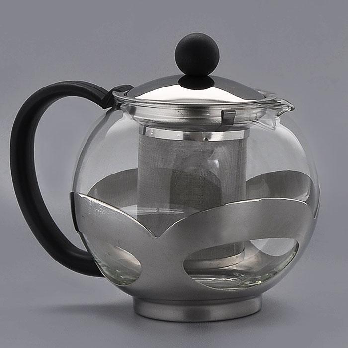 Чайник заварочный Gotoff, 1,2 л. 82508250Заварочный чайник, выполненный из жаропрочного стекла и нержавеющей стали, практичный и простой в использовании. Он займет достойное место на вашей кухне и позволит вам заварить свежий, ароматный чай. Чайник оснащен сетчатым фильтром, который задерживает чаинки и предотвращает их попадание в чашку, а прозрачные стенки дадут возможность наблюдать за насыщением напитка. Заварочный чайник Gotoff послужит хорошим подарком для друзей и близких. Размер чайника (без ручки): 14 х 14 х 15 см.