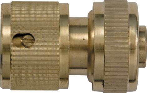 Соединитель для шлангов FIT, латунный, 1/2. 7744077440Соединитель FIT применяется для быстрого и надежного соединения гибкого шланга с любой насадкой поливочной системы. Совместим со всеми элементами аналогичной поливочной системы. Характеристики: Материал: латунь. Размеры прибора: 4,5 см х 3 см х 3 см. Размер упаковки: 15 см х 10 см х 4 см.