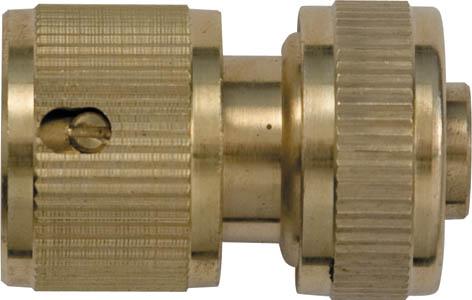 Соединитель для шлангов FIT, латунный, с автостопом, 1/2. 7744577445Соединитель для шланга FIT, с автостопом применяется для быстрого и надежного соединения шланга с любой насадкой поливочной системы. Встроенный клапан автостопа перекрывает поток воды при снятии насадки. Характеристики: Материал: латунь. Размеры прибора: 4,5 см х 3 см х 3 см. Размер упаковки: 15 см х 10 см х 4 см.
