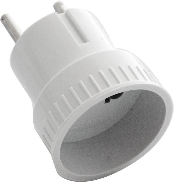 Адаптер-переходник UNIVersal, без заземления. А10983316Адаптер-переходник UNIVersal применяется для подключения электроприборов с вилкой европейского стандарта к розеткам российского стандарта до 250 Вт, изготовлен из АБС пластика белого цвета. Характеристики: Материал: металл, пластик. Размеры адаптера: 6 см х 4,5 см х 4,5 см. Размеры упаковки: 17 см х 9 см х 5 см.