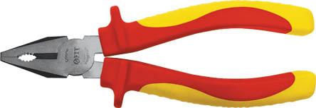 Пассатижи FIT ЭЛЕКТРО, 160 мм, до 1000 В50783Пассатижи Fit изготовлены из хром ванадиевой стали. Они предназначены для захвата, зажима и удержания мелких деталей. Имеют эргономичные ручки. Выдерживают напряжение до 1000 вольт. Характеристики: Материал: хром-ванадиевая сталь, пластик. Общая длина: 16 см. Размер плоскогубцев: 16 см х 6 см х 3 см. Размер упаковки: 22 см х 6 см х 3 см.