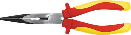Тонконосы Fit, 160 мм, 1000 В50786Тонконосы Fit изготовлены из хром ванадиевой стали. Они предназначены для захвата, зажима и удержания мелких деталей. Имеют эргономичные ручки. Выдерживают напряжение до 1000 вольт. Характеристики: Материал: хром-ванадиевая сталь, пластик. Общая длина: 16 см. Размер тонконосов: 16 см х 6 см х 2,5 см. Размер упаковки: 18 см х 6 см х 2,5 см.