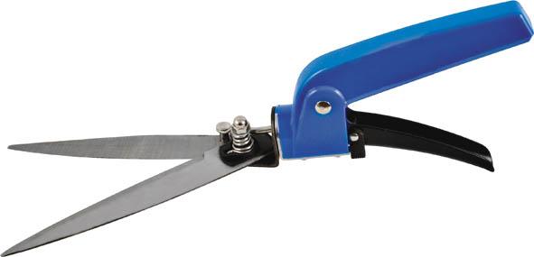 Ножницы для травы FIT, цвет: черный, синий, 330 мм77099Ножницы для травы FIT предназначены для подравнивания травы на клумбах. Поворотный механизм лезвия обеспечивает качественную работу, даже в труднодоступных местах. Прочный материал, из которого изготовлен данный инструмент, обеспечивает продолжительный срок эксплуатации. Характеристики: Материал: сталь, пластик. Размеры ножниц: 33 см х 6 см х 2,5 см. Размер упаковки: 38 см x 10 см x 3 см.