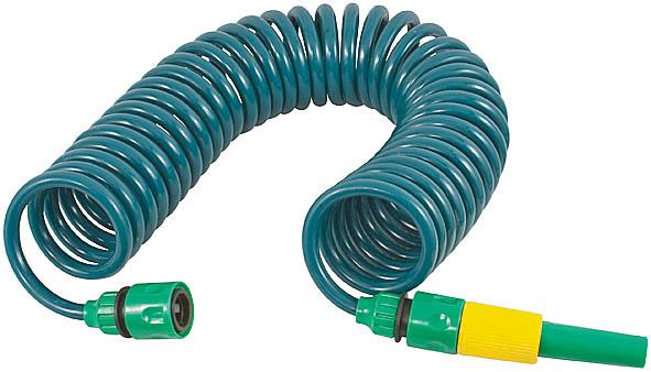 Шланг спиральный для полива FIT, с насадкой, 6 м. 7731877318Спиральный шланг FIT служит для направленного полива. Изготовлен из пластика, отличается прочностью и удобством эксплуатации. Максимальная длина, на которую растягивается шланг - 6 метров. Может применяться, в диапазоне температур от +5° до +50° С. Шланг совместим со всеми элементами поливочной системы производителя, и может комбинироваться с необходимыми устройствами и насадками по желанию пользователя. В комплекте идет одна насадка для полива. Характеристики: Материал: пластик. Внутренний диаметр: 8 мм. Внешний диаметр: 11 мм. Длина шланга: 6 м. Размер упаковки: 21 см х 24 см х 9 см.