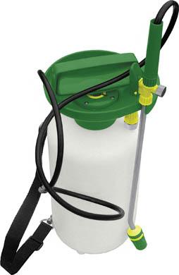 Опрыскиватель FIT, 5 л. 7733096515412Опрыскиватель FIT предназначен как для опрыскивания помещений в целях профилактики от грызунов и насекомых, так и для обработки химикатами растений на садово-огородном участке. Обеспечит равномерное разбрызгивание жидкости. Для удобства во время работы опрыскиватель имеет наплечный ремень. Характеристики:Материал: пластик. Цвет: белый, зеленый. Объем: 5 л. Размеры опрыскивателя: 17 см x 17 см x 41 см. Размер упаковки: 18 см x 18 см x 42 см.