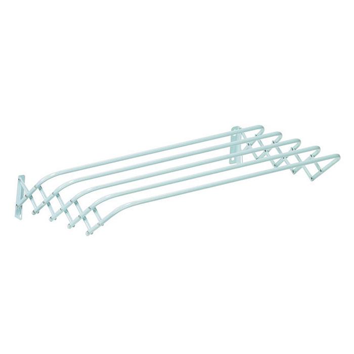 Сушилка для белья Brio 100 Super, настенная10070103Сушилка для белья Brio 100 Super - это удобная в использовании настенная сушилка. Она имеет 5 металлических струн (длиной 100 сантиметров каждая), которые выдерживают до 10 кг белья. Сушилка имеет складной механизм, благодаря которому она не займет много места. Сушилка крепится к стене, ее можно прикрепить в любом удобном для вас месте: в ванне, на балконе, в комнате. Характеристики: Материал: сталь. Размер сушилки в собранном виде: 100 см х 17 см х 10 см. Размер сушилки в разобранном виде: 100 см х 19 см х 41 см. Артикул: 100700103.