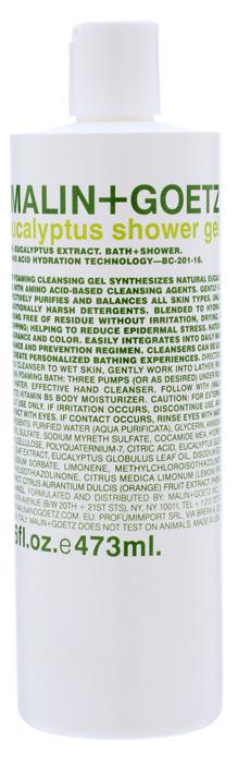 Malin+Goetz Гель для душа Эвкалипт, 473 млMG070Концентрированный пенящийся гель для душа Malin+Goetz Эвкалипт содержит натуральный эвкалипт и очищающие ингредиенты на основе аминокислот для мягкого увлажнения кожи и устранения эпидермального стресса. Эффективно очищает и поддерживает баланс всех типов кожи, особенно чувствительной и склонной к экземе кожи. Полностью смывается водой, не вызывает раздражения, сухости и повреждений кожи в отличие от традиционных грубых очищающих средств. Тонкий аромат экстракта эвкалипта часто используется в ароматерапии и спа-центрах. Гель для душа Эвкалипт идеально подходит для мужчин и женщин, оставляя возможность для нанесения парфюмерного аромата. Характеристики: Объем: 473 мл. Производитель: США. Товар сертифицирован.